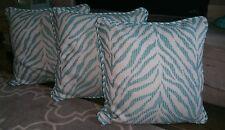 "Frontgate Zebra Linen Aruba Outdoor Pillow 20"" square NEW"