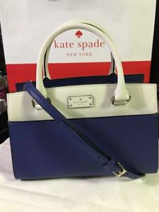 Blue/cement WKRU4323 Kate Spade Small Caley Grove Street Satchel