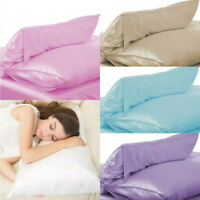 100% Pure Silk Pillowcase Soft Pillow Case Cover Colorful Home Accessories Decor