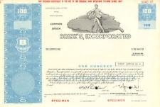 Brink's  Home Security 100 share specimen stock certificate