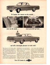 1966 CHEVROLET EL CAMINO 396 ~ ORIGINAL MUSCLE CAR AD