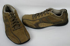 SKECHERS Mens Relaxed Step Brown Leather Bicycle Toe Sneaker Shoes US 9 EUR 42