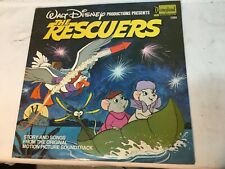 Vintage Walt Disney Productions The Rescuers Story and Songs Motion Picture Reco