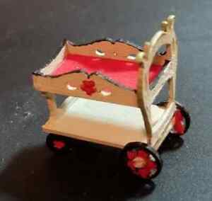 1:48 INCH TEA CART LASER CUT KIT FROM MAPLE, HANDCRAFTED