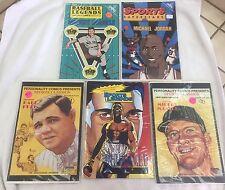 Sports Superstars 1992 Comic Lot of (5) Michael Jordan, Mantle, Ali,+ Babe Ruth