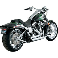 Vance & Hines Chrome Shortshots Staggered Exhaust System for Harley Softail