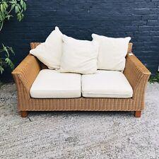 Rattan 2 Seater Sofa Cream Cushions Next Home