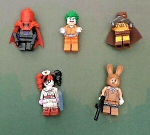 5 x LEGO Minifigure Batman Series  Bundle - Joker/Nurse/Catman/Red Hood/March