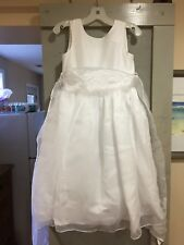 Flower Girl Dress Princess Formal Birthday Bridesmaid Pageant/White, Size 6