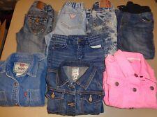 Mixed Lot of 8 Levi's Guess Girls Denim Pants, Shorts, Shirt & Jackets Size 5T