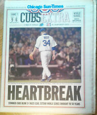Kerry Wood Chicago Cubs Sun Times HeartBreak Game 7 Cubs Blow 3-1 In NLCS