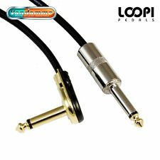 "1m 1/4"" Pancake to Straight Guitar Effect - Thin Pro Patch Van Damme Cable"