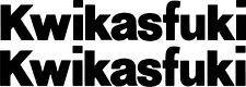 """2x 9"""" KWIKASFUKI Kawasaki Decal Sticker Tank Ninja Bike ZX10R ZX6R ZX9R ZX14R"""