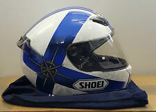 Shoei XR1000 Symbol Motorcyle Helmet Tc-2 White Blue Size Small