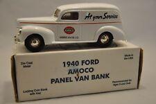 ERTL FORD 1940 AMOCO PANEL DELIVERY VAN 1:25 SCALE DIE CAST BANK