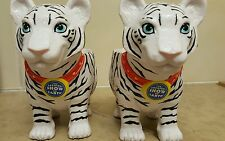 Greatest Show On Earth Ringling Bros White Tiger Set of Plastic Mugs