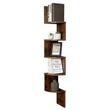 5 Tier Corner Shelf Floating Wall Shelves Storage Display Bookcase Unit LBC20BX