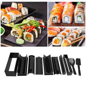 10 Pcs Sushi Mold Maker Set Making Kit Rice Roller DIY Cooking Kitchen Tools Set