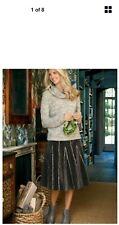 Soft Surroundings Brown Linosa Skirt Sz Pet Xl Nwt