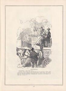 1852 Punch Cartoon Pleasant bus Driver Risks a Drink