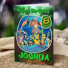 Pokemon Extra Grande ** ** Tarjeta De Cumpleaños Personalizada A4 Pikachu Nintendo Nieto