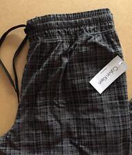 CALVIN KLEIN Mens Pyjama Bottoms - Size XL - BNWT - Grey Check Warm PJs