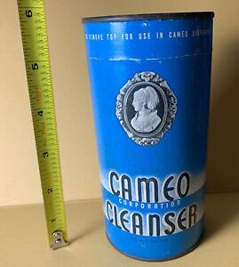Vintage 1940s Cameo Cleanser 14oz Advertising Full Unopened Dispenser Size