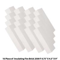 Insulating Firebrick 9x4.5x0.75 IFB 2500F Set of 16 Fire Brick