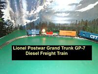 Lionel Postwar Grand Trunk GP-7 Diesel & Complete Freight Train