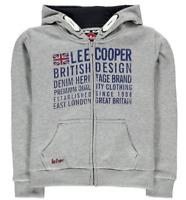 Lee Cooper London Zip Hoodie Junior Boys Grey Uk Size 9-10 Years *R23