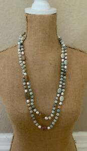 Barse Extended Vacation Necklace- Mixed Stones- NWT