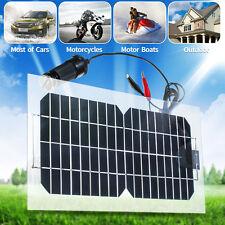 18V 5.5W Semi-Flexible Monocrystalline Solar Panel Charger For Car Motorcycles