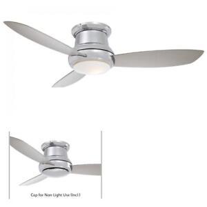 "Minka Aire F518L-PN Concept II Polished Nickel 44"" Ceiling Fan W/Light & Remote"