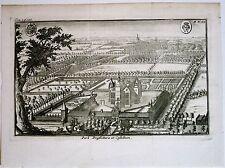 Gravure de Harrewijn, Belgique, Château et parc