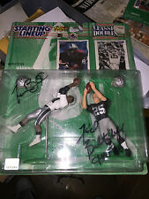 TIM BROWN FRED BILETNIKOFF HAND SIGNED 1997 STARTING LINEUP RAIDERS FOOTBALL