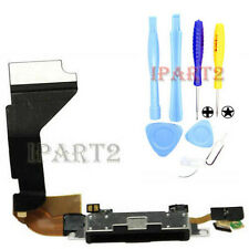 Charger Charging Dock Port Connector with Flex Cable for iPhone 4 Tools (Black)