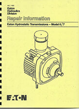 Eaton Hydrostatic Transmission Repair Manual Eaton Hydro Model 6/7