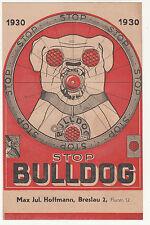 Prospekt Stop Bulldog Fahrrad Rücklichter Reflektoren Hoffmann Breslau 1930 (D2