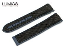 For 20mm 22mm OMEGA SeaMaster Planet BLUE BLACK Rubber Strap Watch Band Clasp