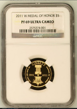 2011-W Medal of Honor  Gold  $5 PF69 Ultra Cameo NGC