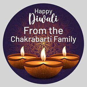 Happy Diwali Deepavali Dipavali Party Festival Sikh Hindu Stickers Labels Gift