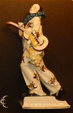 Katzhütte Hertwig & CO Porzellan Figur Figuren Clown Harlekin mit einer Gitarre