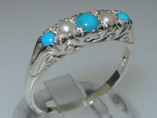 Unbranded Turquoise Natural Sterling Silver Fine Jewellery