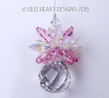 m/w Swarovski Mini Mozart Ball Pineapple Lt. Rose AB Leaves Lilli Heart Designs
