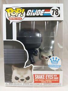 Retro Toys Funko Pop - Snake Eyes with Timber - GI Joe - Funko Exclusive -No. 78