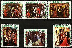 LIBERIA, CHRISTMAS 1970, VERY NICE SET OF 6!!!
