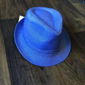 Stetson Terylene Blue Fedora Brand New With Tags Size XL