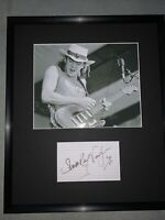 STEVIE RAY VAUGHAN HAND SIGNED AUTOGRAPHED PROFESSIONALLY FRAMED PHOTO W/COA