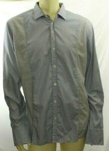 Martin Box Men's Blue Casual Shirt Plaids Size XXL (US size 16)