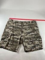 Roundtree & York Men's Sz 48 Brown Camo 100% Cotton Cargo Shorts